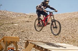 FF Bike park + bicicleta rally + protección con casco