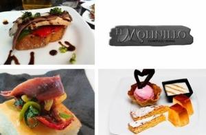 Aperitivos + tosta + solomillo + postre
