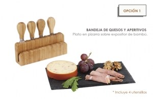 Bandeja de quesos y aperitivos desde 14,44€